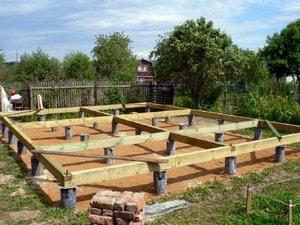 Как лучше сделать фундамент для деревянного дома