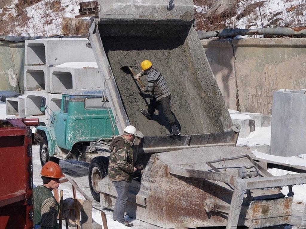 Бетон самосвалом как посчитать раствор цементный